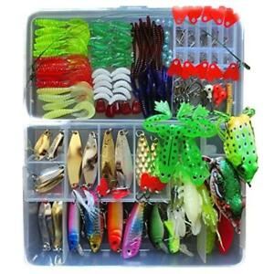 Fishing Lure Kit for Freshwater Saltwater trout Bass Salmon include Vivid...