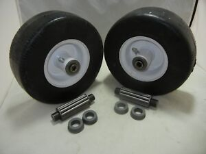 2 Exmark Walk Behind 1 513648 Flat Free Solid Tire Front Caster Wheel 9x3.50 4