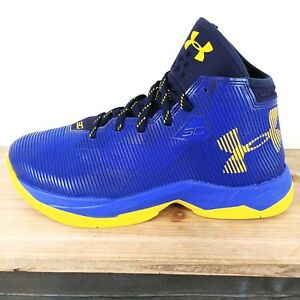 Under Armour GS Steph Curry 2.5 Basketball Shoes Blue Sneaker 1274062 BOYS SZ 7Y