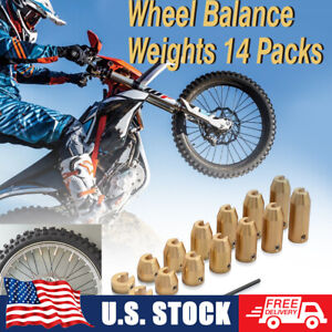 14PCS Motorcycle Brass Wheel Balance Weights Refill Kit For Honda Yamaha Suzuki