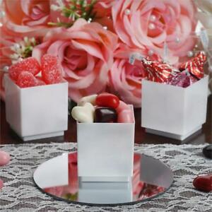 Disposable PLASTIC Single Serve Dessert Favor Cubes CUPS Party Wedding TABLEWARE