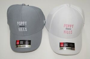 * Under Armour Womens Golf Hat Cap UA Classic Fit White or Gray Poppy Hills