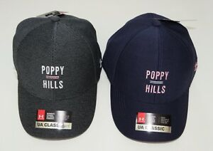 * Under Armour Womens Golf Hat Cap UA Classic Fit  Poppy Hills Blue or Charcoal