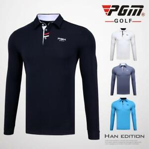 PGM Tops Polo Shirt 2018 New Apparel Men's Long Sleeve Shirt Dry Fit Style ropa