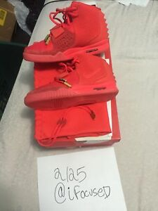 Nike Air Yeezys 2 Red Octobers W. Digital and Physical Receipt! SZ 8.5