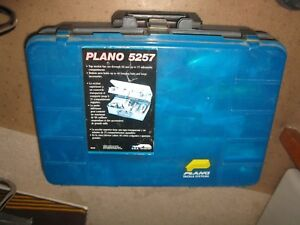 PLANO 5257 Tackle Box FULL OF FISHING LURES 2 MANY TO LIST vintage