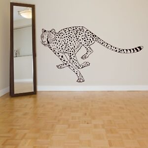 Wall Decal Sticker Cheetah Leopard Lion Predator Big Cat Wild Animal Tiger ZX420