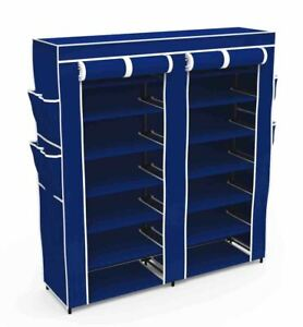 Home Basics Polyester 7 Tier Multi-Purpose Storage Shelf Navy - SC49721