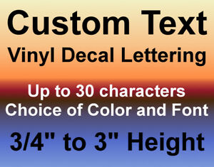 Custom Vinyl Decals Text Letters Numbers Personalized Stickers Car Window Home $7.60