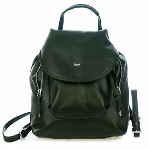 Bruno Rossi Italian Made Green Genuine Calf Leather Women's Designer Backpack
