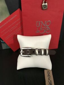 Mens Uno De 50 Leather Bracelet - Wrist Belt - Spectacular!! - Large
