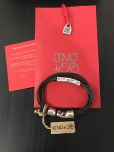 Mens Uno De 50 Leather Bracelet - NWT - Escape - Spectacular!! - Large