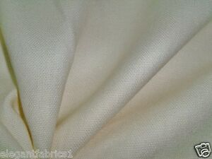 CLASSIC LEE JOFA G P & J BAKER LINEN FABRIC 10 YARDS OPAQUE (OFF WHITE)
