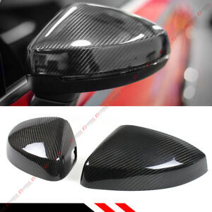 CARBON FIBER REPLACEMENT MIRROR COVERS FOR 14 19 AUDI A3 S3 RS3 WITH LANE ASSIST $123.99