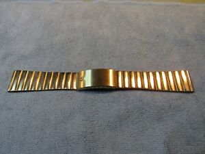 Gold Tone VINTAGE ACCUTRON Mens Watch Bracelet 20mm Can be Reduced New Old Stock