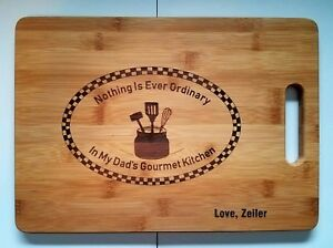 Personalized Dads Gourmet Kitchen Cutting Board Father's Day Birthday Gift