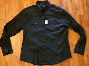 NWT Men's Under Armour X Made in Italy Long Sleeve Shirt Black Size: 3XL $200