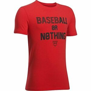 Under Armour Boys' Baseball or Nothing Short Sleeve Tee new gift shirt for kids