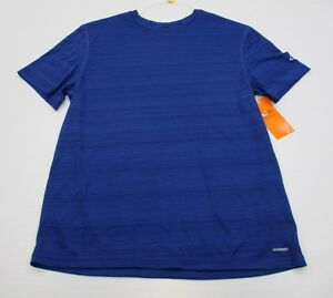 new CHAMPION #T2210 Men's Size L DUO-DRY FITNESS Short Sleeve Blue SHirt