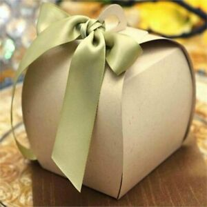 NATURAL Cupcake Purse FAVORS BOXES Wedding Party Decorations GIFT Wholesale SALE