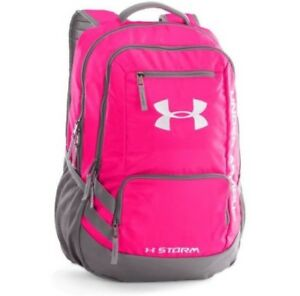 New Under Armour Backpack Storm 1 Storm1 Girls School Gym Bag Women PINK Grey