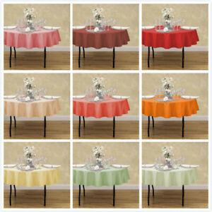 70 in. Round Polyester Tablecloth 33 Colors for Wedding Event Banquet Party
