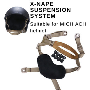 Helmet Tactical Chin Strap Mich Ach 4 Points Replacement Coyote Military Harness