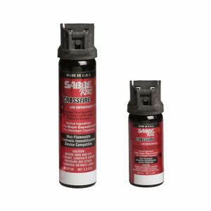 Sabre Red Crossfire Pepper Spray Canister Flip-Top Stream