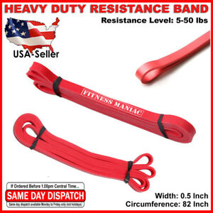 Pull Up Exercise Bands For Resistance Body Stretching Fitness 5-50 lbs