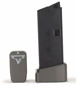 Taran Tactical Innovations Base Pad for Glock 43 plus 2 rounds  All Colors