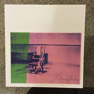 Andy Warhol signed print Big Electric Chair 1986 - COA