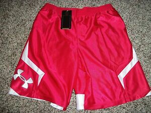 UNDER ARMOUR New NWT Boys Youth Kids XL Shorts Gym Athletic Loose Fit Bright Red