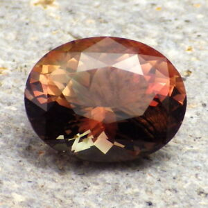 COPPER-PEACH-GREEN MULTICOLOR MYSTIQUE SCHILLER OREGON SUNSTONE 7.11Ct TOP RARIT