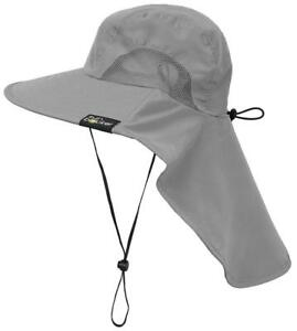 Sun Blocker Outdoor Protection Fishing Cap with Neck Flap Wide Brim Hat for...