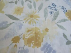 Threshold Floral Fabric Shower Curtain yellow blue green nwop #440