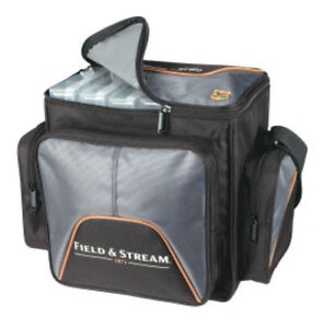 Field & Stream Angler Fishing Tackle Carry Bag with 4-3600 Lures Storage Boxes