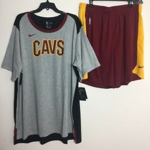 NIKE CLEVELAND CAVALIERS  PRACTICE OUTFIT SHIRT & SHORTS DRI FIT RARE 3XL