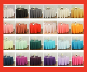 LinenTablecloth 120 in.Round Polyester Tablecloth 33 Colors Wedding Party Event
