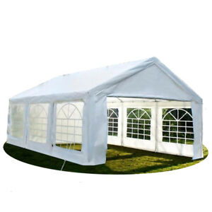 20'x20' Heavy Duty Party Tent Outdoor Carport Canopy Gazebo Holiday Event Sides