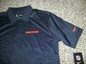 CHICAGO BEARS New NWT Mens 4XL XXXXL 4X Polo Shirt Blue Navy Nike Dri - Fit