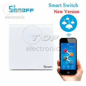 Sonoff Touch WIFI LED Light Switch Glass Panel Wireless Remote Control US/EU