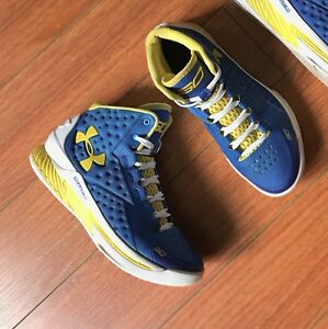 Under Armour Curry 1 Home Size 5.5Y Dub Nation One Kids Boys GS Youth