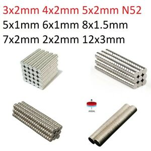 Wholesale Super Strong N52 N50 Round Disc Neodymium Magnets Rare Earth 100 500 $6.99
