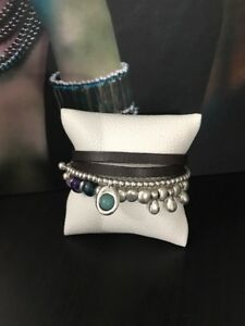Uno De 50 Beaded Charmed Leather Bracelet - NWT - Heaven and Earth - PUL0845 - M