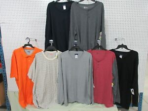 7 ADULT 4XL MEN'S SHORT LONG T SHIRT BIG TALL SWEATER CLOTHING LOTS DRI-FIT NEW
