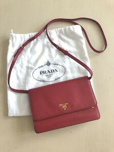 Prada Saffiano Wallet on Strap