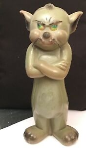 vintage tom and jerry coin bank blow mold argentina rare