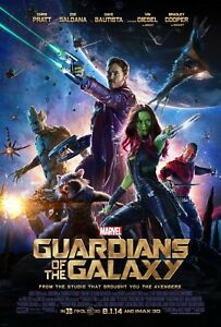 Movie Poster 2014 Marvel's Guardians Of The Galaxy Full Color Glossy (3 sizes)