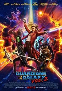 Movie Poster 2017 Marvel's Guardians Of The Galaxy Vol. 2 Glossy (3 sizes)
