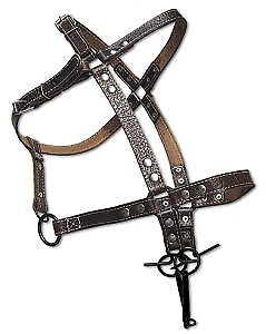 Horse Collar Pony Harness Equitation Leather Bridle Halter Driving Equestrian $64.27